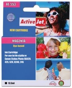 ActiveJet Tusz ActiveJet AE-553N | Magenta | 13,5 ml | Chip | Epson T0553