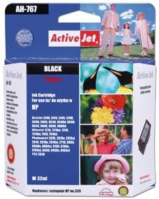 ActiveJet Tusz ActiveJet AH-339R | Black | 35 ml | Regenerowany | HP C8767EE HP 339