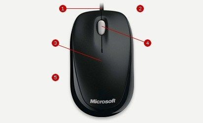 Microsoft myš L2 Compact Optical Mouse 500 Mac/Win EMEA EFR Black