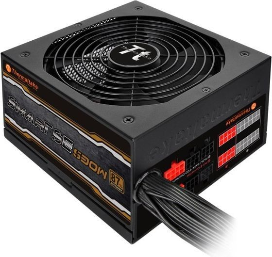 Thermaltake Smart SE 530W Modular (sprawność 80+ Bronze dla 230V, 2xPEG, 140mm, Single Rail)
