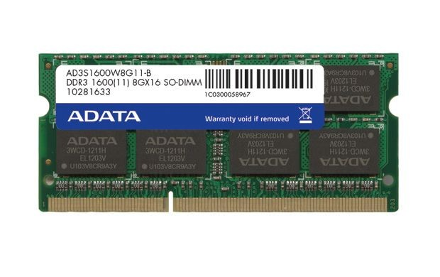 A-Data Premier DDR3 1600 SODIMM 8GB Single Tray