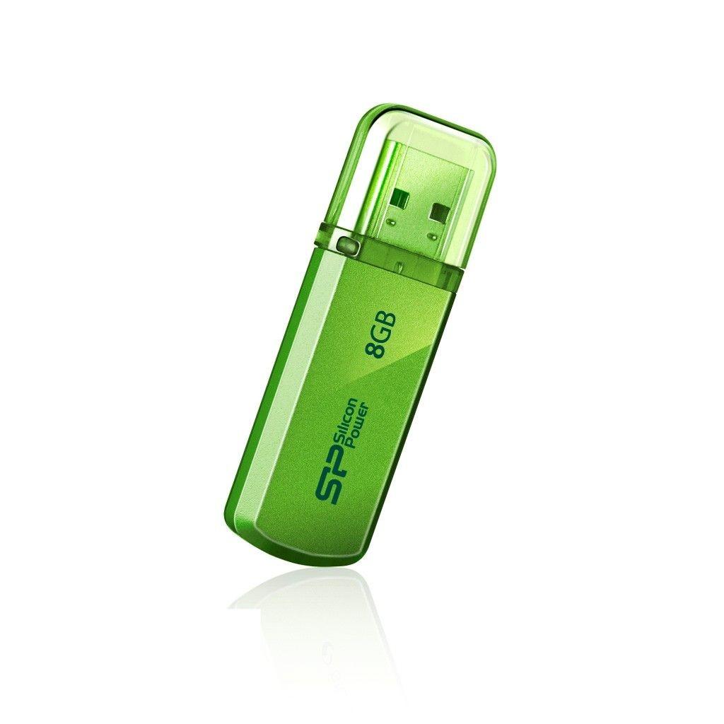 Silicon-Power Pamięć USB Helios 101 8GB USB 2.0 Zielona
