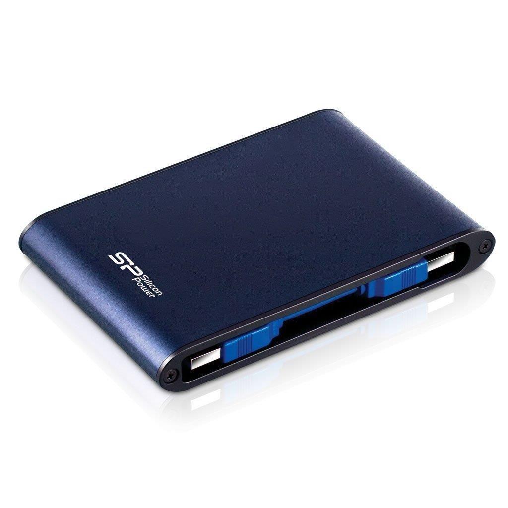 Silicon-Power Dysk twardy zewnętrzny Armor A80 500GB Niebieski SP500GBPHDA80S3B