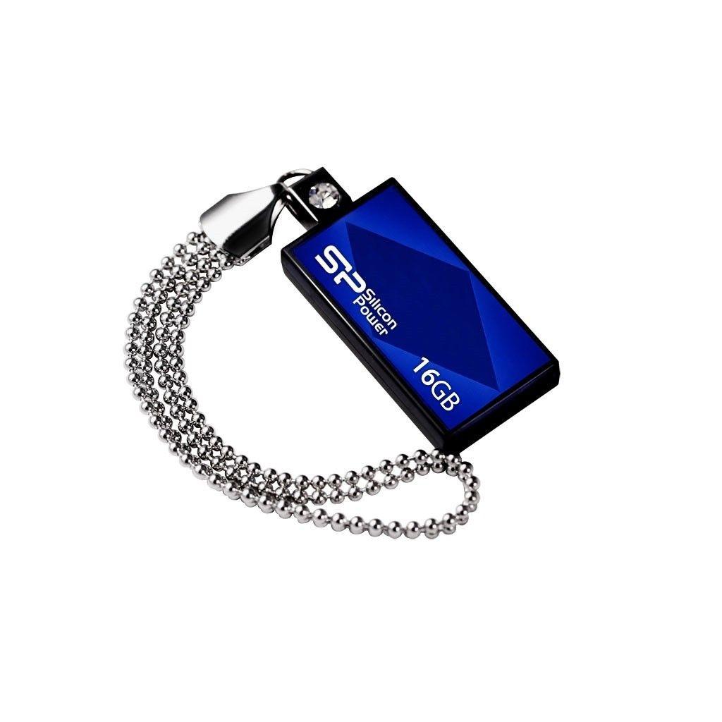 Silicon-Power TOUCH 810 16GB USB 2.0 SWAROVSKI/blue/wodoszczelny
