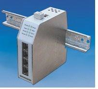 Microsens Industrial Fast Ethernet Switch 4x10/100Base-TX, 100Base-FX Uplink Multimode 1310nm, ST
