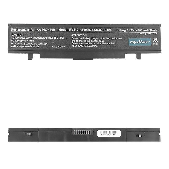 Qoltec Bateria do laptopa - SAMSUNG R580, 11.1 V | 4400 mAh