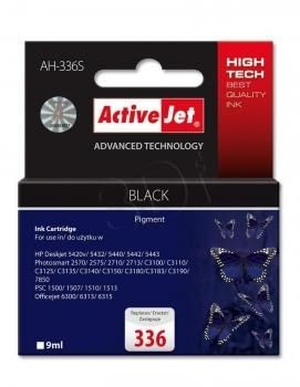 ActiveJet Tusz ActiveJet AH-336S | Czarny | 9 ml | HP 336 C9362EE