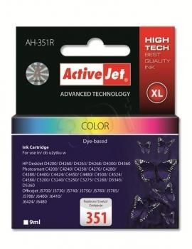 ActiveJet Tusz ActiveJet AH-351R | color | 9 ml | HP 351 CB337EE