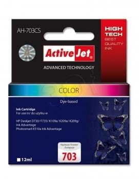 ActiveJet Tusz ActiveJet AH-703CS | color | 12 ml | HP 703 CD888AE