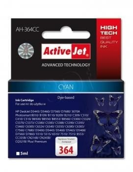 ActiveJet Tusz ActiveJet AH-364CC | Cyan | 5 ml | HP 364 CB318EE