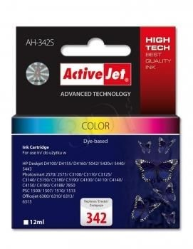 ActiveJet Tusz ActiveJet AH-342S | color | 12 ml | HP 342 C9361EE