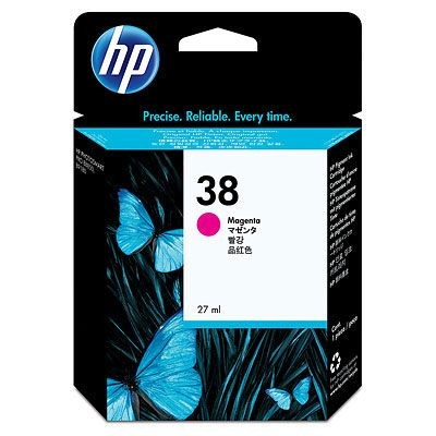 HP 38 original ink cartridge magenta standard capacity 27ml 5.000 photos 1-pack with Vivera ink