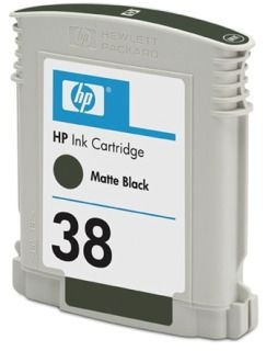 HP 38 Matte Black Pigment Ink Cartridge with Vivera Ink (HP Photosmart Pro B9180, 27 ml)