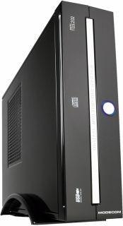 ModeCom Obudowa FEEL 202 Mini ITX, z zasilaczem 96W czarno-srebrna