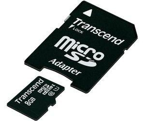 Transcend karta pamięci Micro SDHC 8GB Class 10 UHS-I + adapter SD ( Full HD )