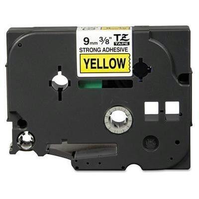 Brother Taśma laminowana TZ-S621 9mm czarny nadruk/żółte tło