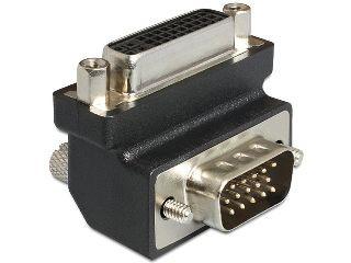 DeLOCK Adapter DVI-I (F)(24+5) > VGA (M), kątowy 90°