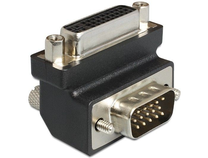 DeLOCK Adapter DVI-I (F)(24+5) > VGA (M), kątowy 270°