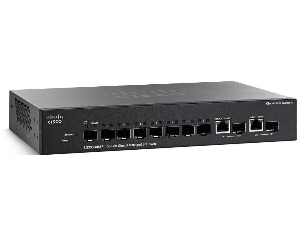 Cisco Systems Cisco SG300-10 10-port Gigabit Managed SFP Switch (8 SFP + 2 Combo)