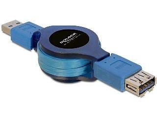 DeLOCK przedłużacz USB 3.0 AM-AF 1M, zwijany na rolce