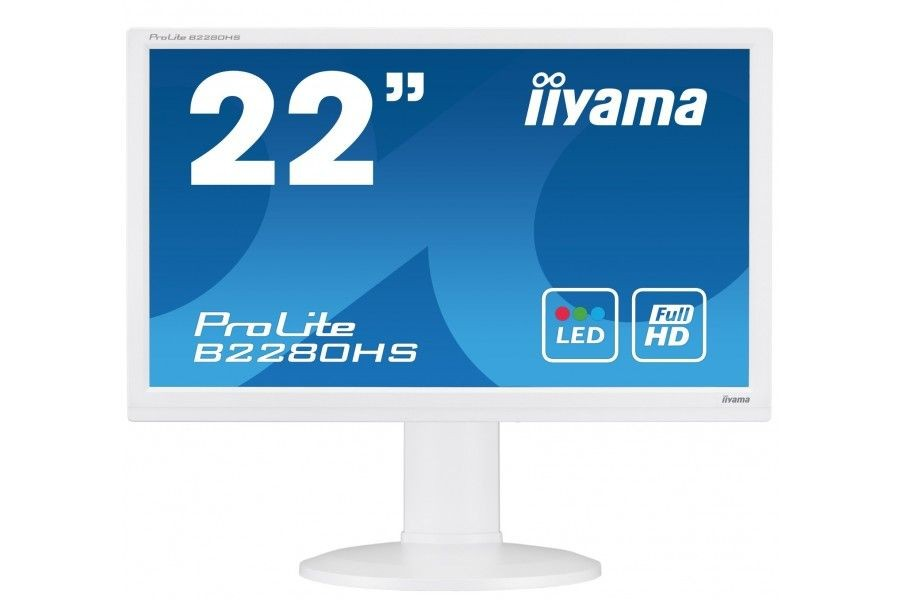 iiyama Monitor B2280HS-W1 21.5inch, TN, Full HD, HDMI, DVI, głośniki