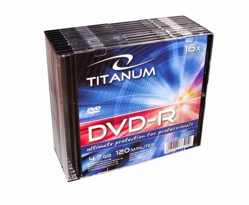 Titanum DVD-R TITANUM [ slim jewel case 10 | 4.7GB | 16x ]