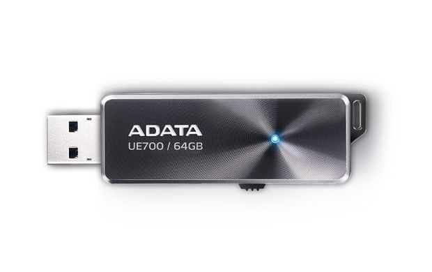 A-Data Adata pamięć USB DashDrive Elite UE700 64GB USB.3.0 Czarne Aluminium do 200MB/s