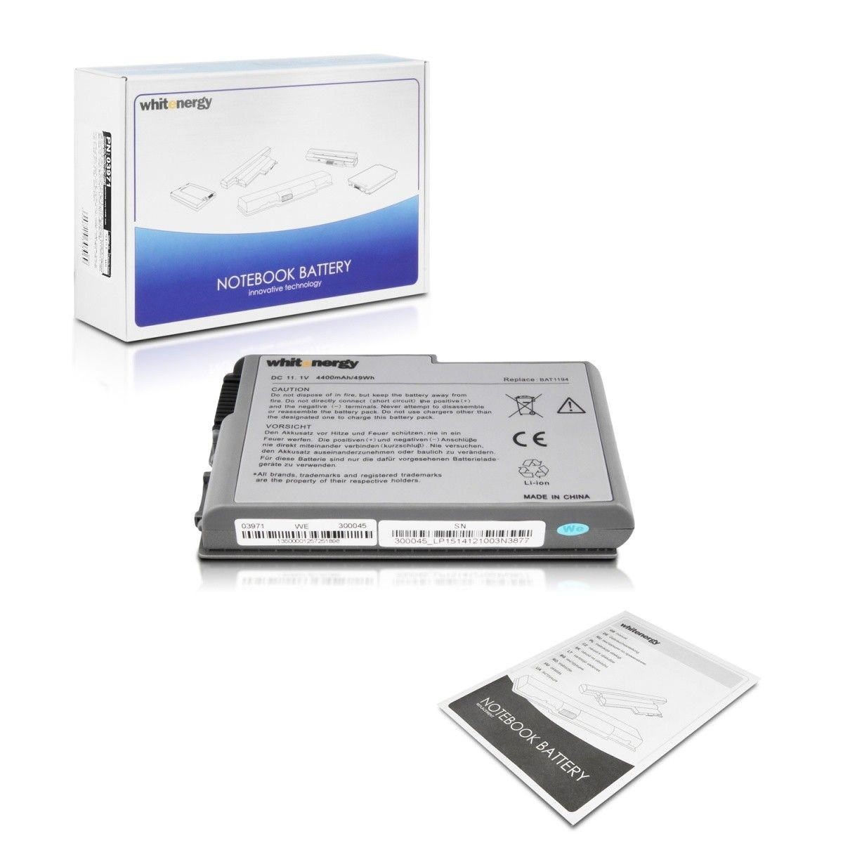 Whitenergy bateria do laptopa Dell Latitude D500 11.1V Li-Ion 4400mAh
