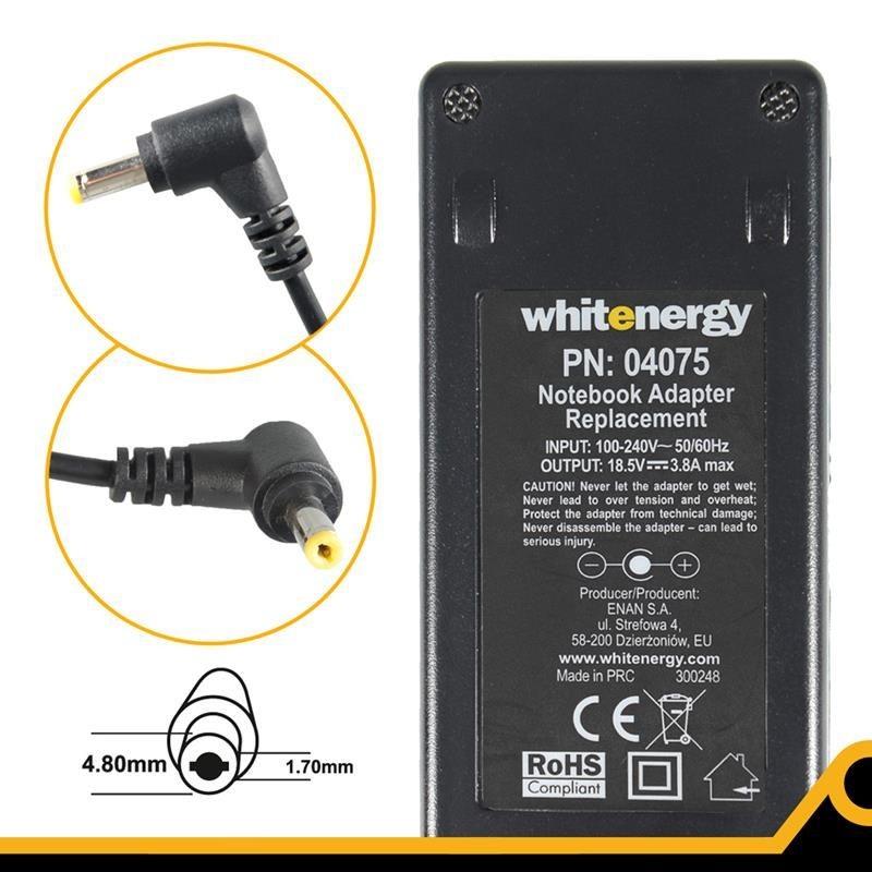 Whitenergy zasilacz sieciowy Compaq 18.5V/3.8A 70W (wtyczka 4.8x1.7 mm)