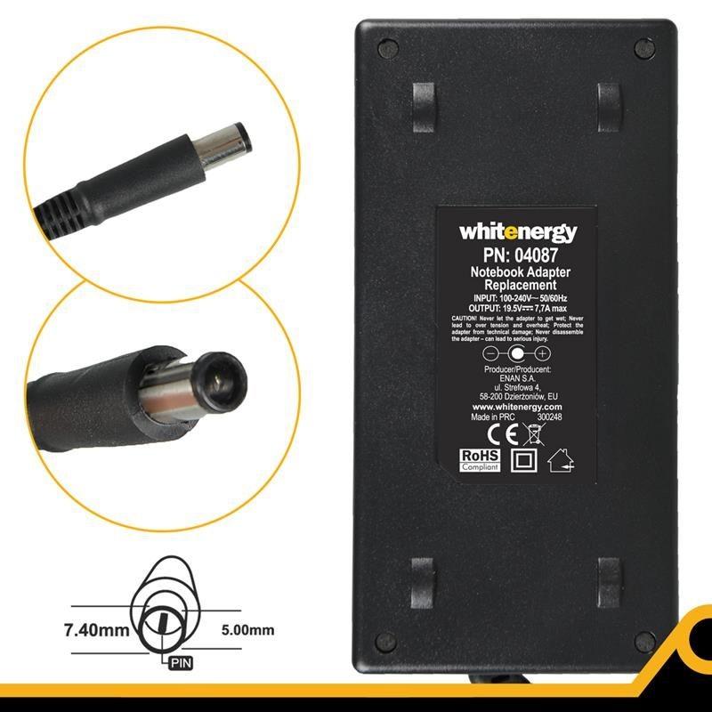 Whitenergy zasilacz sieciowy Dell 19.5V/7.7A 150W (wtyczka 7.4x5.0 mm)