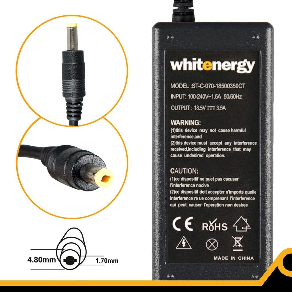 Whitenergy zasilacz sieciowy HP Compaq 18.5V/3.5A 65W (wtyczka 4.8x1.7 mm)