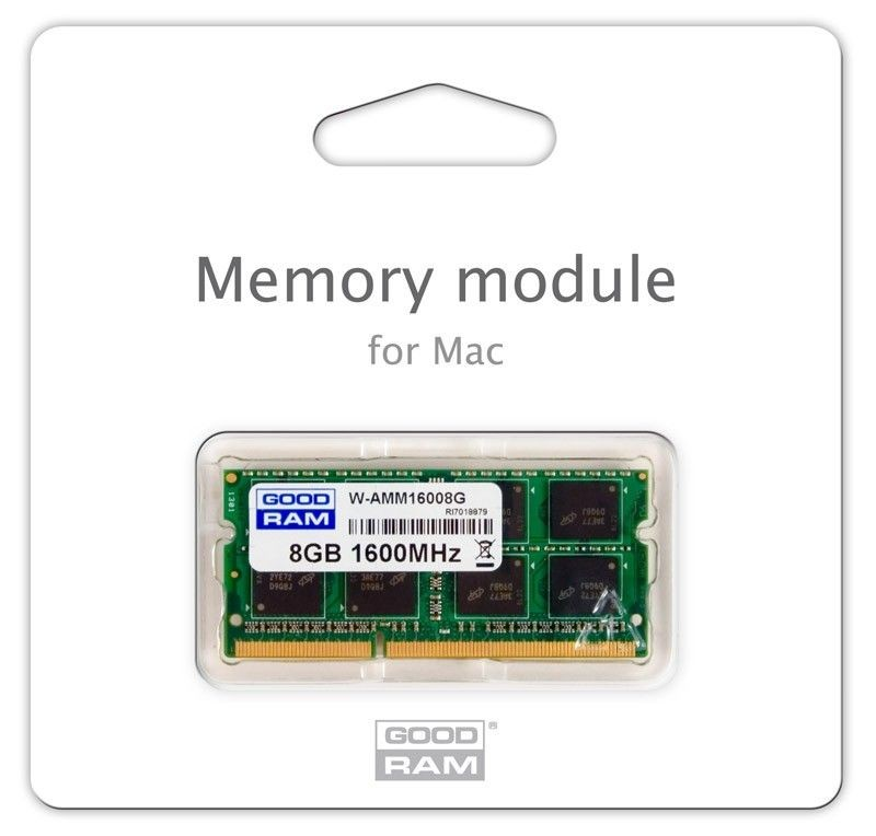GoodRam DDR3 8GB/1600 for APPLE SODIMM (iMac, MacBook, Macbook Pro, Mac Mini)