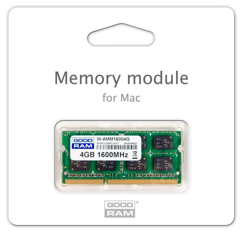 GoodRam DDR3 4GB/1600 for APPLE SODIMM (iMac, MacBook, Macbook Pro, Mac Mini)