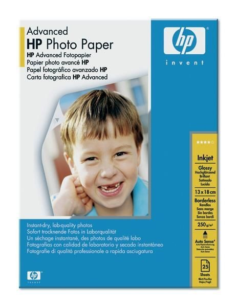 HP Advanced Glossy Photo (glossy, 250g, 13x18cm, 25 ark.)