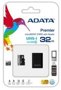 A-Data karta pamięci micro SDHC 32GB Class 10 UHS-I + Czytnik USB