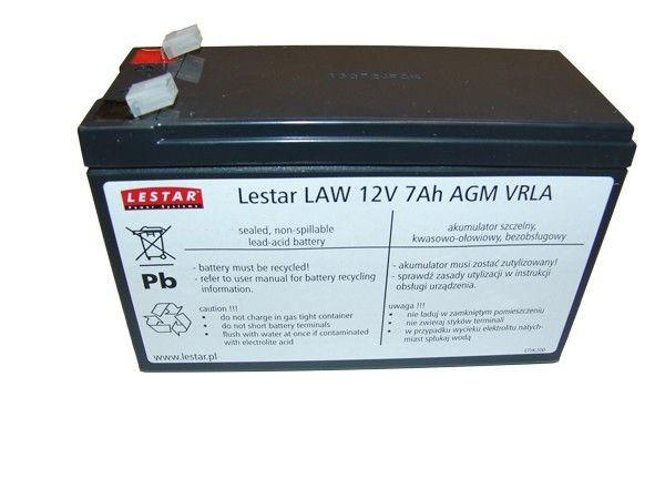 Lestar Akumulator wymienny LAWu 12V 7Ah AGM VRLA