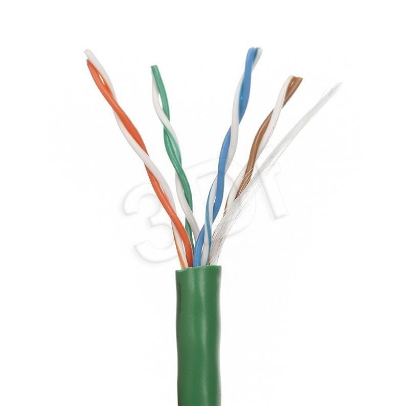 A-LAN UTP linka 4x2x24 AWG kat. 5e 100m PVC zielony