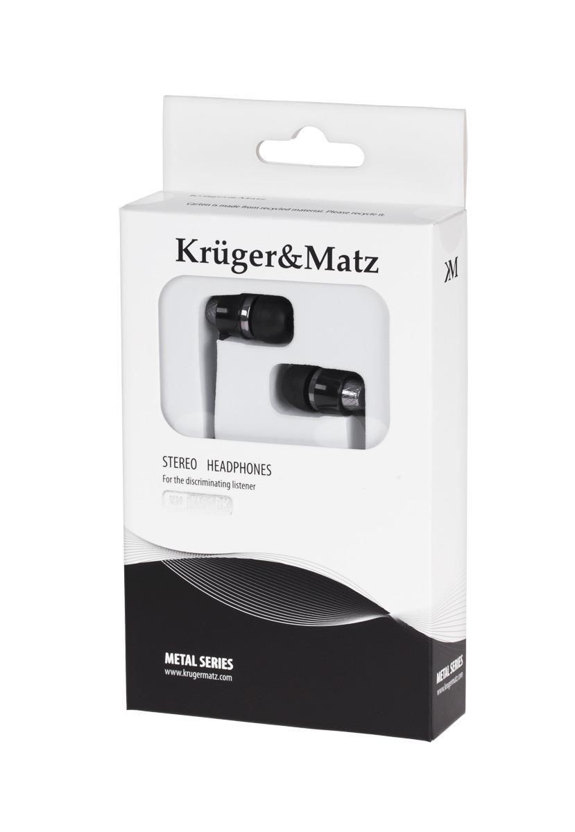 Kruger & Matz Słuchawki przewodowe douszne czarne KMM01BK