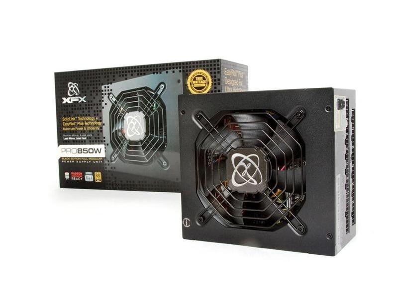 XFX Black Edition 850W Full Modular (80+ Gold, 6xPEG, 120mm, Single Rail)