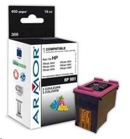 Armor cartridge pro HP OFFICEJET J4524, J4535, J4580, J4624, J4660, Color, 3x9ml, (CC656AE)