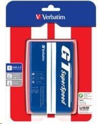 Verbatim Dysk twardy zewnętrzny GT SuperSpeed USB 3.0 1 TB Niebiesko-biały 53083
