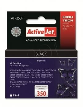 ActiveJet Tusz ActiveJet AH-350R | Czarny | 25 ml | HP 350 CB335EE