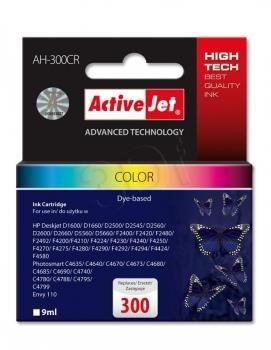 ActiveJet Tusz ActiveJet AH-300CR | color | 9 ml | HP 300 CC643EE