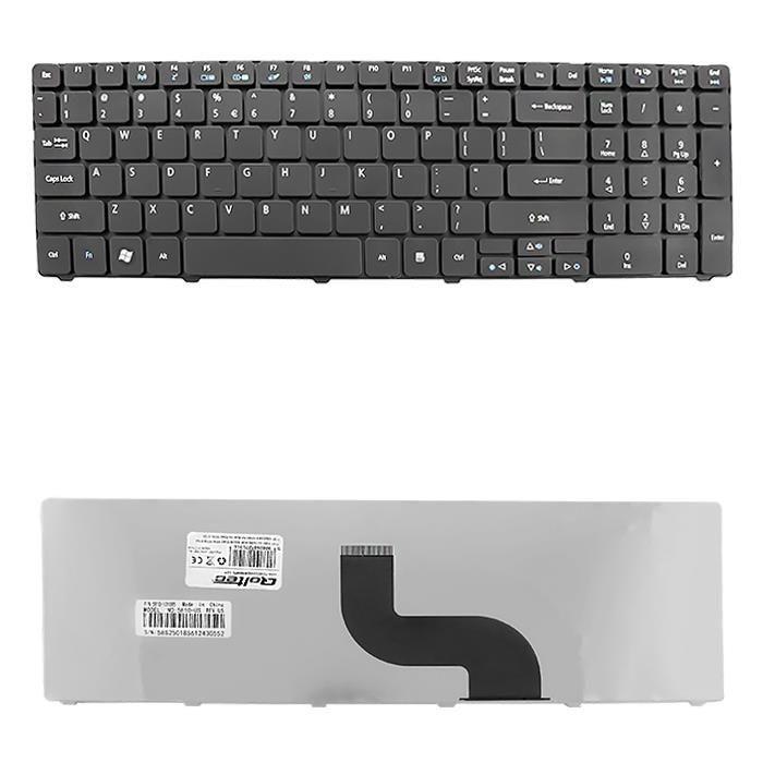 Qoltec Klawiatura do laptopa Acer Aspire 5340 5536 5738 5740 CZARNA