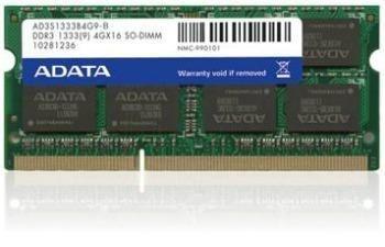 A-Data 4GB 1333MHz DDR3 CL9 SODIMM 1.5V - Retail