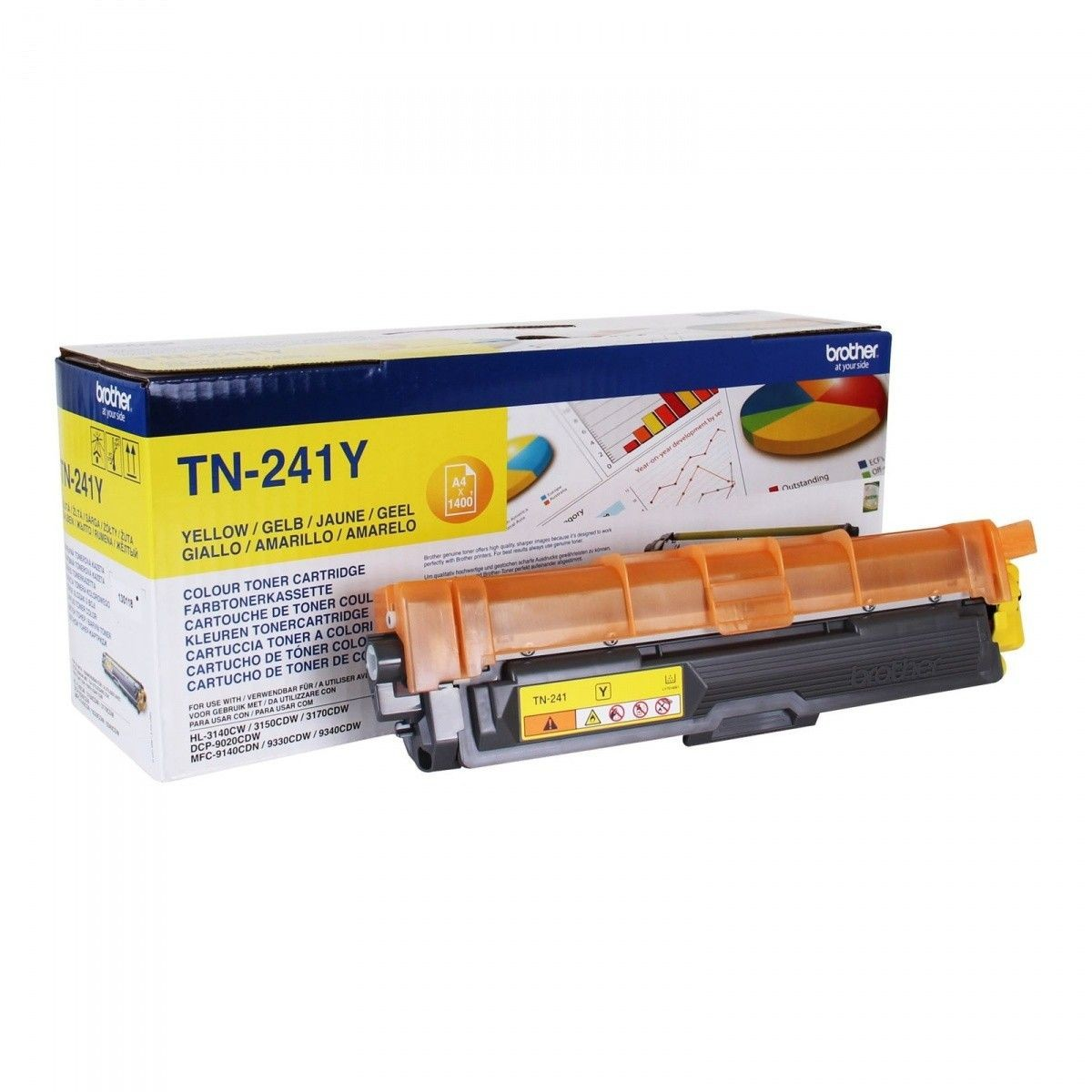 Brother Toner TN241 yellow | 1 400str | HL-3140CW / 3150 / 3170 / DCP-9020