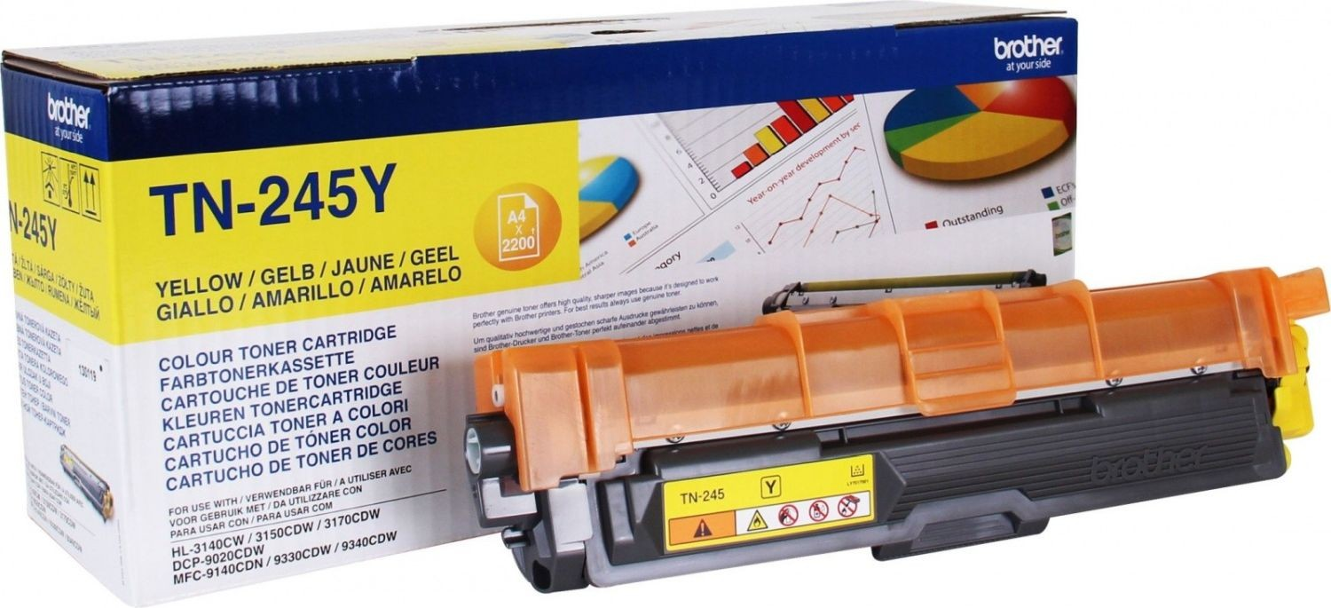 Brother Toner TN245 yellow | 2 200str | HL-3140CW / 3150 / 3170 / DCP-9020