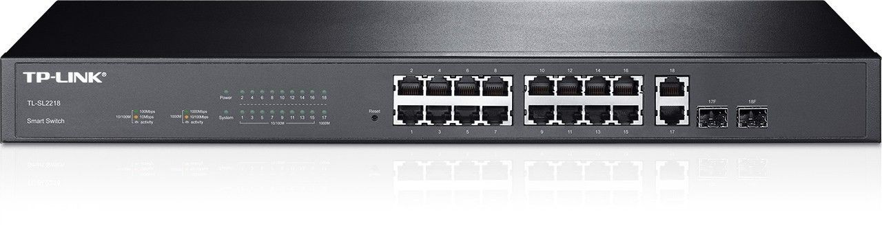 TP-Link TL-SL2218 16-Port 10/100Mbps +2-Port Gigabit Smart Switch