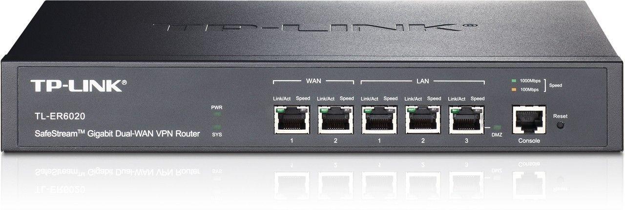 TP-Link TL-ER6020 Gigabit VPN Router, 2xWAN, 2xLAN, 1xLAN/DMZ, IPSec, PPTP,L2TP