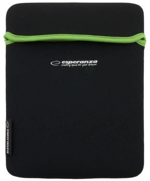 Esperanza Etui na Tablet 10,1'' 16:9 ET173G| Czarny / Zielony| GRUBY Neopren